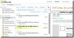 Outlook Modul E-Mail