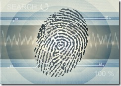 finger print on background